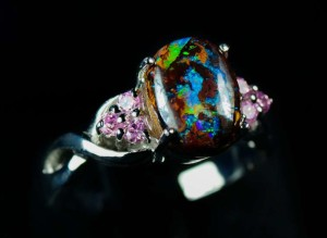 Auction a Black Opal Ring