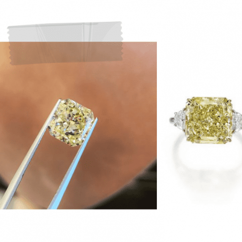 Market Prices: 4.12 Carat Fancy Yellow Diamond Featured Image
