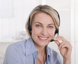 Diamond Estate Online Diamond Buyer Woman with Headset