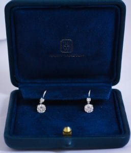 Harry Winston dangle diamond earrings