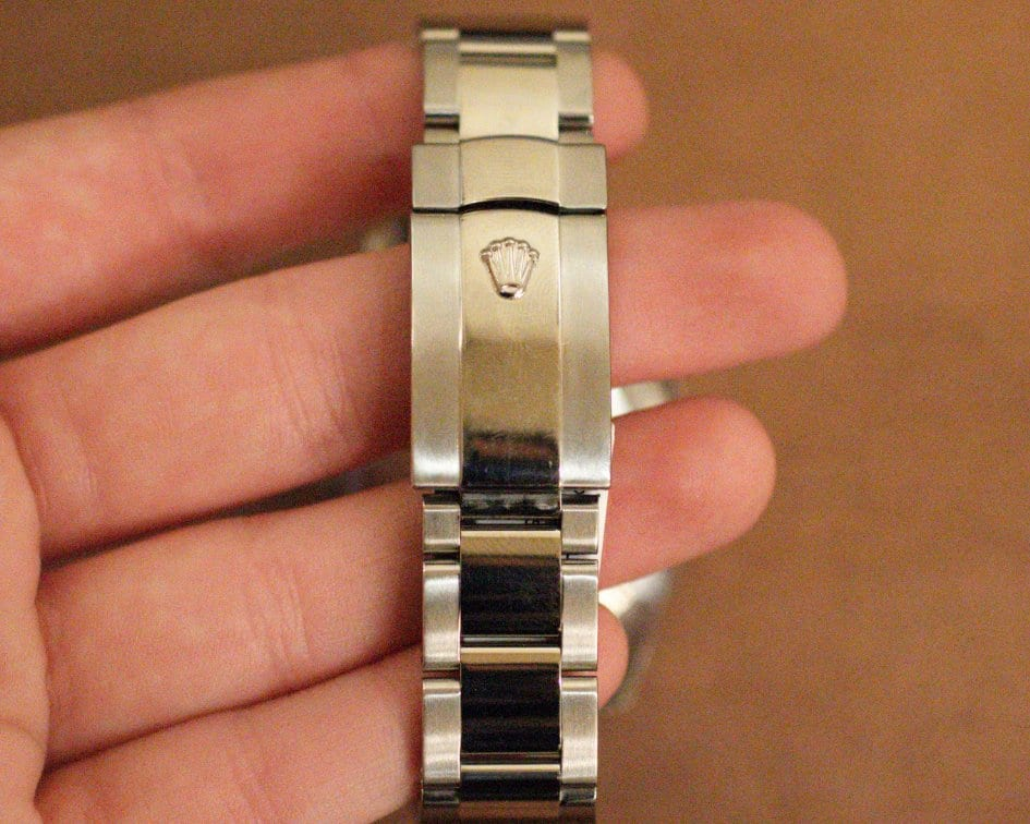 Back of Rolex watch band