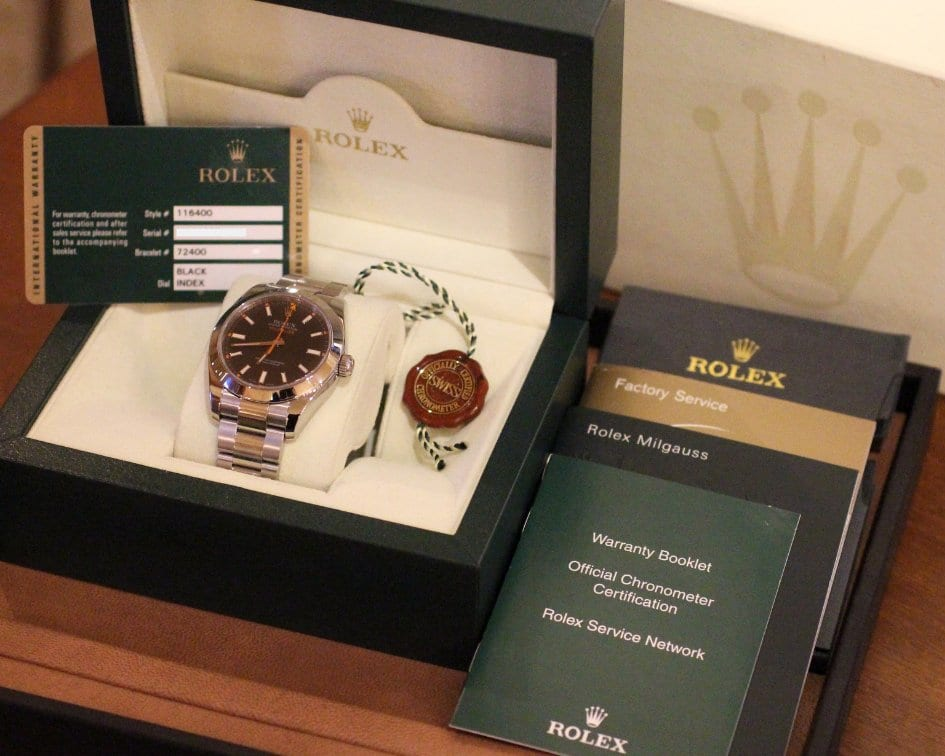 Rolex Milgauss with box and papers