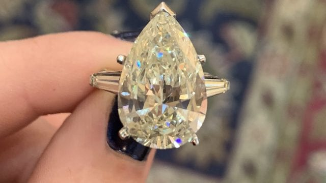 Recently Purchased Engagement Ring In Laguna Beach