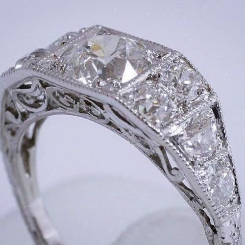 Vintage Platinum Diamond Ring Featured Image